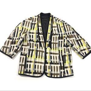 ZARA Blazer Jacket Multi Color  3/4 Sleeve Size M